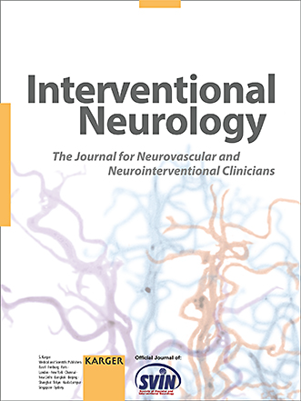 Interventional Neurology Journal Cover